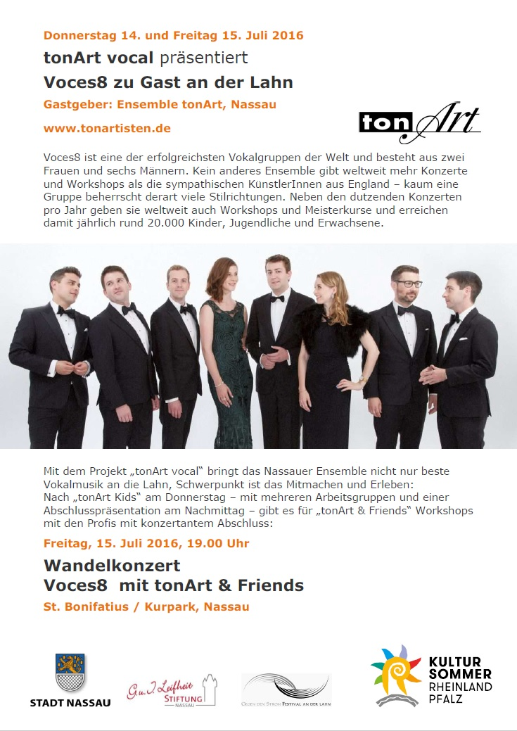 Flyer tonArt vocal 2016